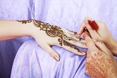 Henna applying Stock Image
