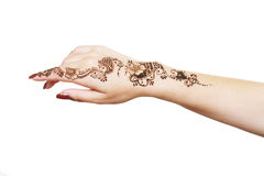 Henna applying Royalty Free Stock Image