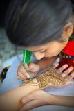 Henna artist Royalty Free Stock Photos