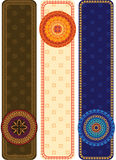 Henna Banners with mandala Royalty Free Stock Images