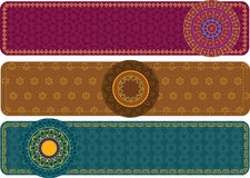 Henna Banners with mandala Royalty Free Stock Photos