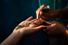 Henna being applied Royalty Free Stock Photo