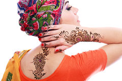 Henna being applied Stock Image