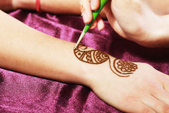 Henna being applied Royalty Free Stock Images