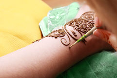 Henna being applied Stock Photography