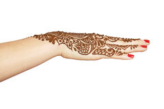 Henna being applied to hand Royalty Free Stock Image