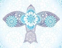 Henna Bird. Hand drawn ornate henna forms bird shape Royalty Free Stock Photography