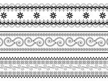 Henna borders Stock Image