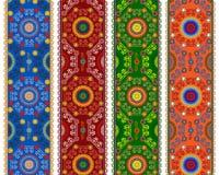 Henna Borders Pattern Imagenes de archivo