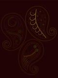 Henna de Paisley ilustração royalty free