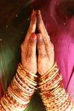 Henna design on  bride's hands Stock Image