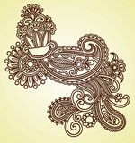 Henna Design Element Stock Photo