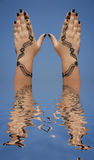 Henna design on hands Royalty Free Stock Photography