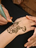 The henna designer Royalty Free Stock Image