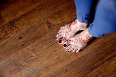 Henna Designs à pied Photographie stock libre de droits