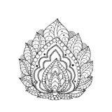 Henna doodle διανυσματικό λουλούδι του Paisley Στοκ φωτογραφίες με δικαίωμα ελεύθερης χρήσης