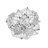 Henna doodle διανυσματικό λουλούδι Στοκ φωτογραφία με δικαίωμα ελεύθερης χρήσης
