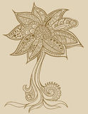 Henna doodle Tree vector. Henna Sketchy doodle Tree vector Stock Photography