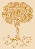 Henna doodle Tree vector Stock Image