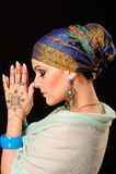 Henna, fashion, girl, lady, makeup, tattoo, veil, oriental, musl Stock Photography