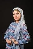 Henna, fashion, girl, lady, makeup, tattoo, veil, oriental, musl Stock Images