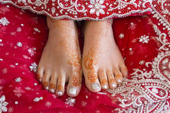 Henna feet Stock Photo