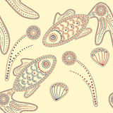 Henna fishes Royalty Free Stock Images