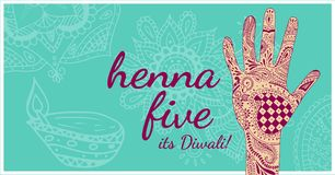 Henna Five Diwali, wijd vector illustratie