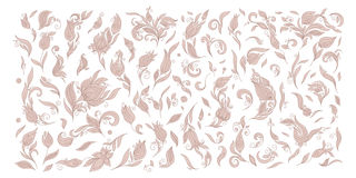 Henna floral tattoo doodle vector elements on white background Royalty Free Stock Images