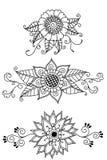 Henna Flowers Stock Image
