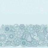 Henna Flowers Mehndi Design Vector seamless pattern Stock Photos