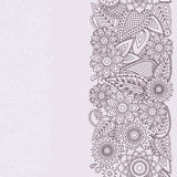 Henna Flowers Mehndi Design Vector seamless pattern Royalty Free Stock Images