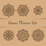 Henna Flowers Set Illustration Libre de Droits
