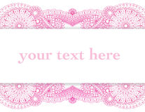 Henna Frame. Highly detailed henna style drawings frame a large text area Stock Photo