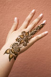 Henna on hand Stock Image
