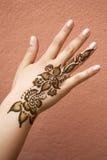 Henna on hand Stock Image