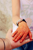 Henna hand design Royalty Free Stock Image