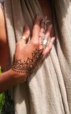 Henna Hand elegante imagen de archivo