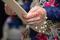 Henna hand jewels Royalty Free Stock Image