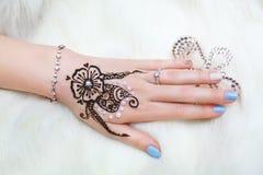Henna on hand Royalty Free Stock Photos