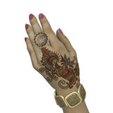 Henna hand painting Royalty Free Stock Photography