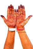 Henna hands. Henna on hands looking beautiful. Henna is a traditional ritual also known as mehndi. It is applied on all the auspicious ceremonies and occasions stock images