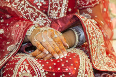 Henna hands royalty free stock photography