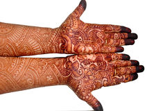Henna on Hands. A shot of Henna on Hands done in India royalty free stock photo
