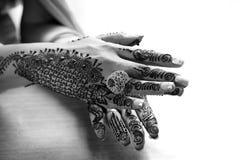 Henna Hands Royalty-vrije Stock Afbeeldingen