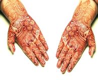Henna on hands Stock Image