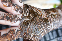 Henna is on hands Royalty Free Stock Images