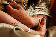 Henna Hands and Arms Royalty Free Stock Photos