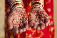 Henna Hands and Bangles Royalty Free Stock Photos