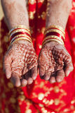 Henna Hands and Bangles. Royalty Free Stock Photos
